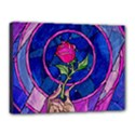 Enchanted Rose Stained Glass Canvas 16  x 12  View1