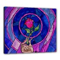Enchanted Rose Stained Glass Canvas 24  x 20  View1