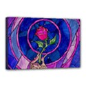 Enchanted Rose Stained Glass Canvas 18  x 12  View1