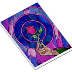 Enchanted Rose Stained Glass Large Memo Pads