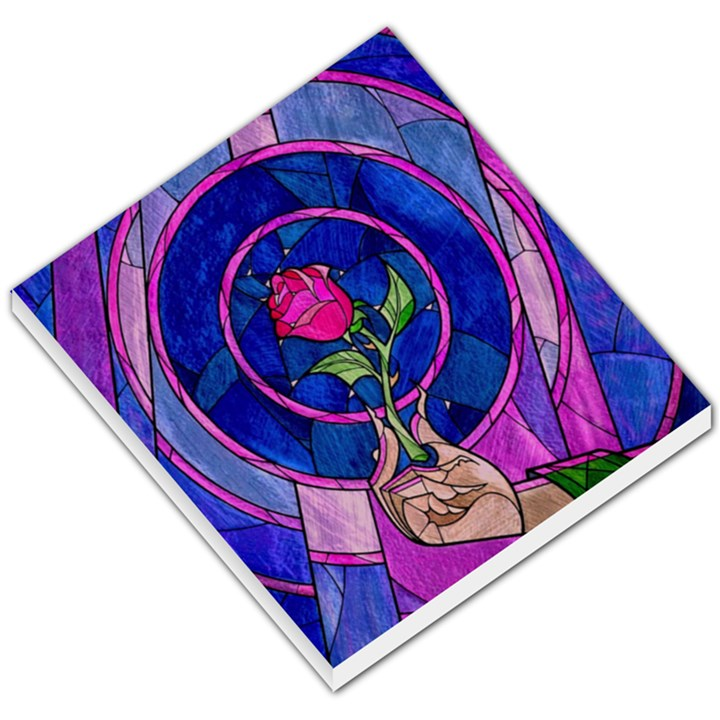 Enchanted Rose Stained Glass Small Memo Pads