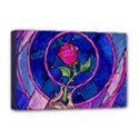 Enchanted Rose Stained Glass Deluxe Canvas 18  x 12   View1