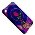 Enchanted Rose Stained Glass Apple iPhone 3G/3GS Hardshell Case View5