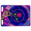 Enchanted Rose Stained Glass Kindle Touch 3G View1