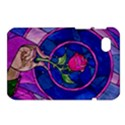 Enchanted Rose Stained Glass Samsung Galaxy Tab 7  P1000 Hardshell Case  View1