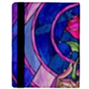 Enchanted Rose Stained Glass Apple iPad 3/4 Flip Case View3