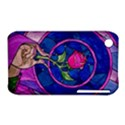Enchanted Rose Stained Glass Apple iPhone 3G/3GS Hardshell Case (PC+Silicone) View1