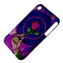Enchanted Rose Stained Glass Apple iPhone 3G/3GS Hardshell Case (PC+Silicone) View4