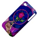 Enchanted Rose Stained Glass Apple iPhone 4/4S Hardshell Case (PC+Silicone) View4