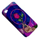 Enchanted Rose Stained Glass Apple iPhone 4/4S Hardshell Case (PC+Silicone) View5