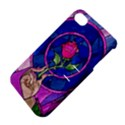 Enchanted Rose Stained Glass Apple iPhone 4/4S Hardshell Case with Stand View4
