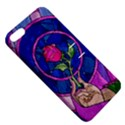 Enchanted Rose Stained Glass Apple iPhone 5 Hardshell Case with Stand View5