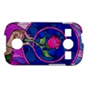 Enchanted Rose Stained Glass Samsung Galaxy S7710 Xcover 2 Hardshell Case View1