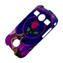 Enchanted Rose Stained Glass Samsung Galaxy S7710 Xcover 2 Hardshell Case View4