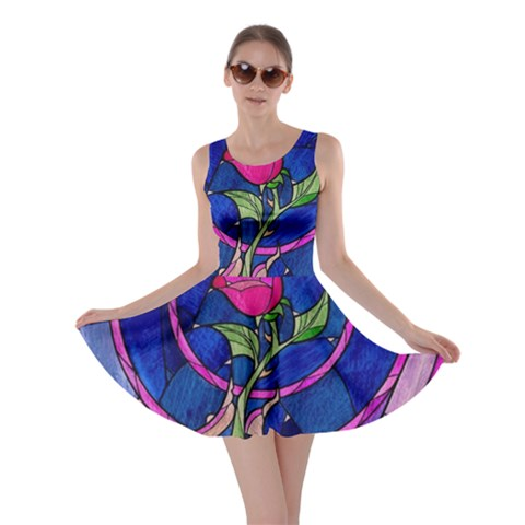 Enchanted Rose Stained Glass Skater Dress