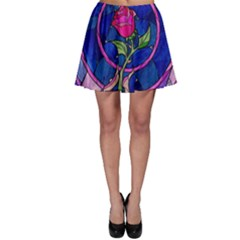 Enchanted Rose Stained Glass Skater Skirt