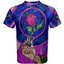 Enchanted Rose Stained Glass Men s Cotton Tee View1
