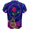 Enchanted Rose Stained Glass Men s Cotton Tee View2