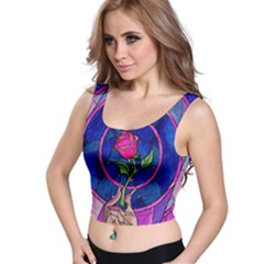 Enchanted Rose Stained Glass Crop Top