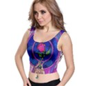 Enchanted Rose Stained Glass Crop Top View1