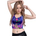 Enchanted Rose Stained Glass Crop Top View2