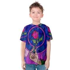 Enchanted Rose Stained Glass Kids  Cotton Tee