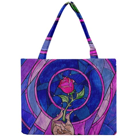 Enchanted Rose Stained Glass Mini Tote Bag