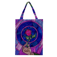 Enchanted Rose Stained Glass Classic Tote Bag