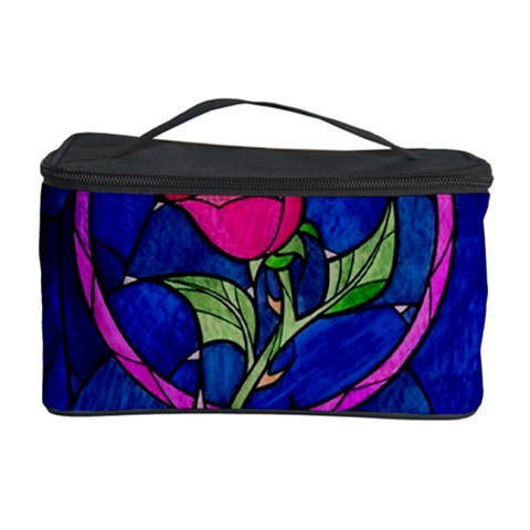 Enchanted Rose Stained Glass Cosmetic Storage Case