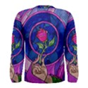 Enchanted Rose Stained Glass Men s Long Sleeve Tee View2