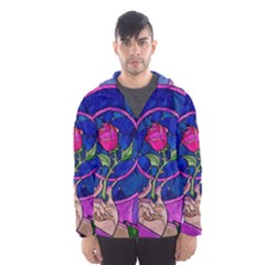 Enchanted Rose Stained Glass Hooded Wind Breaker (men)
