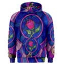 Enchanted Rose Stained Glass Men s Pullover Hoodie View1