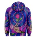 Enchanted Rose Stained Glass Men s Pullover Hoodie View2