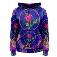 Enchanted Rose Stained Glass Women s Pullover Hoodie