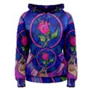Enchanted Rose Stained Glass Women s Pullover Hoodie View1