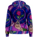Enchanted Rose Stained Glass Women s Pullover Hoodie View2
