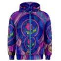 Enchanted Rose Stained Glass Men s Zipper Hoodie View1