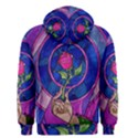 Enchanted Rose Stained Glass Men s Zipper Hoodie View2