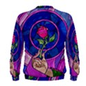 Enchanted Rose Stained Glass Men s Sweatshirt View2