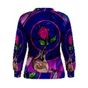 Enchanted Rose Stained Glass Women s Sweatshirt View2