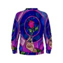 Enchanted Rose Stained Glass Kids  Sweatshirt View2