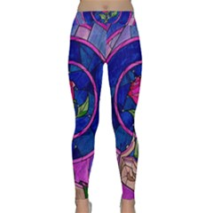 Enchanted Rose Stained Glass Yoga Leggings
