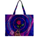 Enchanted Rose Stained Glass Zipper Mini Tote Bag View1