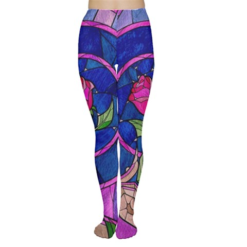 Enchanted Rose Stained Glass Women s Tights