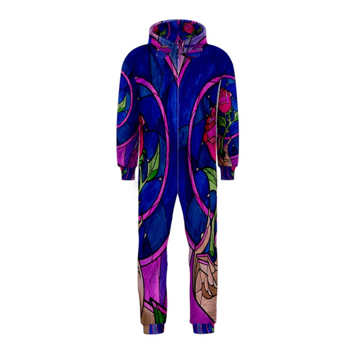 Enchanted Rose Stained Glass Hooded Jumpsuit (Kids)