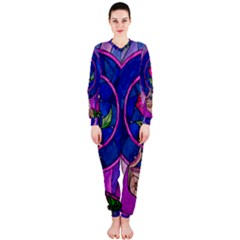 Enchanted Rose Stained Glass OnePiece Jumpsuit (Ladies)
