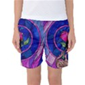 Enchanted Rose Stained Glass Women s Basketball Shorts View1
