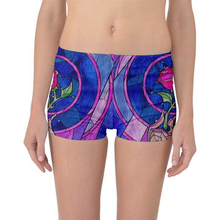 Enchanted Rose Stained Glass Boyleg Bikini Bottoms