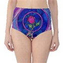 Enchanted Rose Stained Glass High-Waist Bikini Bottoms View1