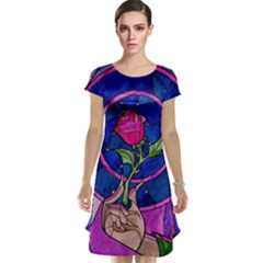 Enchanted Rose Stained Glass Cap Sleeve Nightdress